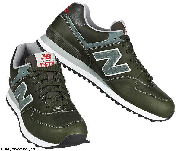 new balance in pelle